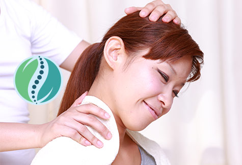 Image of person getting massage or chiropratic care