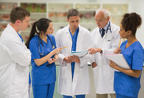 Photo of doctor teaching new residents